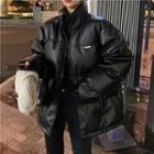 Glitter Padded Coat Black - One Size