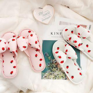 Strawberry Print Slippers / Cherry Print Slippers