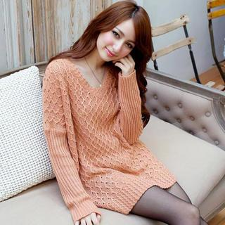 V-neck Long Sweater