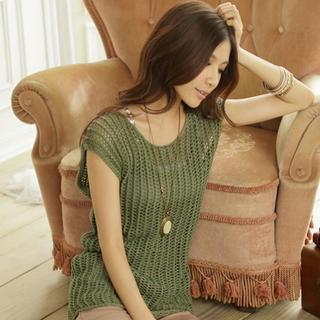Sleeveless Open-knit Top