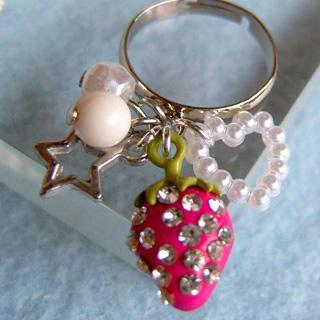 Sweetie Shiny Straberry Ring