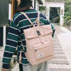 Letter Tag Canvas Backpack