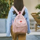 Fruit Embroidered Nylon Backpack