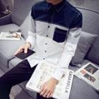 Color Block Long-sleeve Shirt