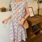 Sleeveless Floral Tank Dress
