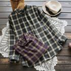 Plaid Buttoned Back Shirt