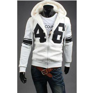 Number Fleece Hooded Jacket
