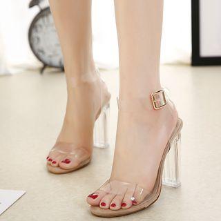 Transparent High Heel Sandals