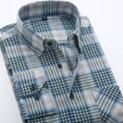 Long-sleeve Plaid / Gingham Twill Shirt