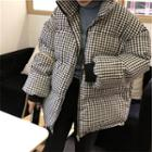 Gingham Puffer Jacket