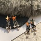 Beaded Faux-pearl Drop Earring