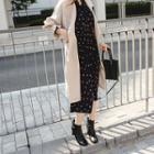 Frill-cuff Trench Coat With Sash