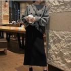 Set: Dotted Sweater + Midi Skirt