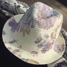 Floral Print Straw Hat