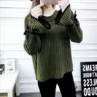Bell-sleeve Thick Sweater