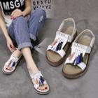 Tassel Slingback Platform Sandals