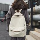 Planet Embroidered Canvas Backpack