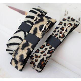 Zebra / Leopard Print Bow Hair Clip