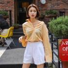 Pintuck-trim Linen Blend Shorts
