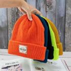Label Tag Knit Beanie