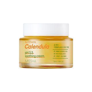 Missha - Su:nhada Calendula Ph 5.5 Soothing Cream 50ml