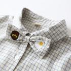 Embroidered Bow Check Long-sleeve Shirt