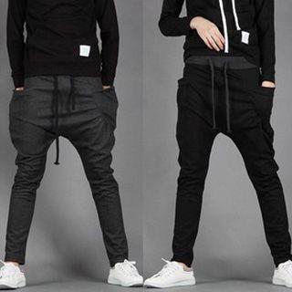 Drawcord Baggy Sweatpants