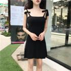 Plain Knit Strappy Dress