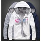 Printed Fleece-lined Hooded Jacket