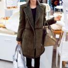 Fleece Collar Long Jacket