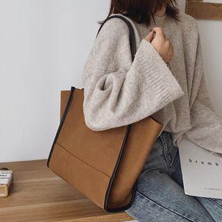 Paneled Tote Bag