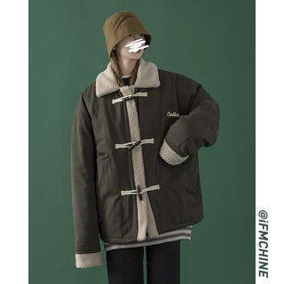 Unisex Fleece-trim Toggle Padded Coat