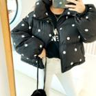 High-neck Dotted Padded Jacket