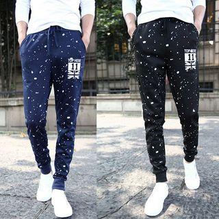 Dot Printed Baggy Pants