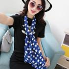Patterned Chiffon Scarf Star