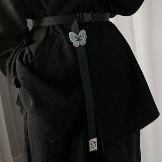 Butterfly Canvas Belt Black - One Size