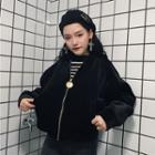 Velvet Cropped Jacket