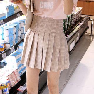 Plaid Mini Pleated Skirt