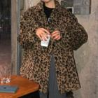 Leopard Print Shirt Jacket Leopard - One Size