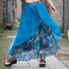 Printed Chiffon Wide-leg Pants As Shown In Figure - One Size