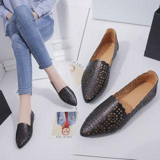 Perforated Pointed Loafers