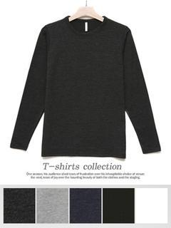 Crew-neck Long-sleeve T-shirt