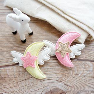 Fabric Flying Moon & Star Hair Clip