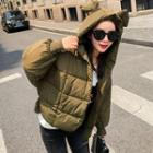 Mouse Ear Hooded Padded Jacket