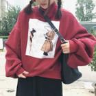 High Neck Oversized Sweatshirt