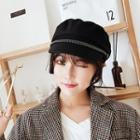 Chained Newsboy Cap Black - M