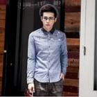 Patchwork Long-sleeve Shirt