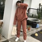 Set: Fleece-lined Hoodie + Sweatpants