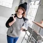 Brioche Knit Raglan Sweatshirt