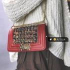 Tweed Panel Shoulder Bag
